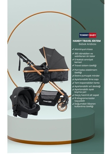 Tommy Baby Handytravel (Seyahat) Sistem Bebek Arabası Antrasit